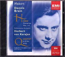 Dennis BRAIN MOZART 4 Horn Concerto Quintet KARAJAN CD Colin Horsley Herbert Von