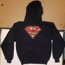 Superman Black Hoodie Brand New DC Comics Sweatshirt Medium M