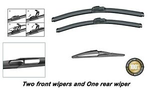 """Honda Civic 2001-2005 Brand New Front and Rear windscreen wiper blades 24""""16""""12"""""""