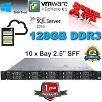 """Dell PowerEdge R620 Xeon E5-2660 3.00GHz Turbo 128GB DDR3 240GB SSD-10x 2.5"""" BAY"""