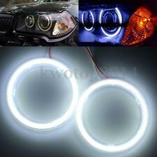 1Pair 100mm COB LED Angel Eye Light Headlight Halo Ring Warning Lamp 72SMD White