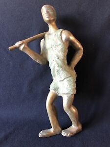 Chad Africa Large Farmer Bronze 35,5 CM 6Kg 600 Towards 1960