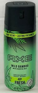 Axe Wild Bamboo 48 Hour Fresh Deodorant Body Spray 4 oz