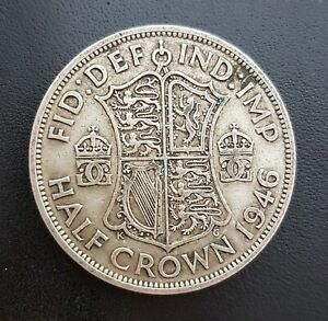 A 1946 Dated Silver British Half Crown Coin. King George VI