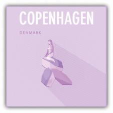 "Mermaid Copenhagen Denmark Travel Car Bumper Sticker Decal 5"" x 5"""