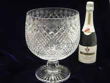Punch Bowl - crystal, hand cut, diamond and fan pattern, new