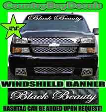 BLACK BEAUTY Windshield Brow Vinyl Decal Sticker Truck Car Turbo Boost Hate GT