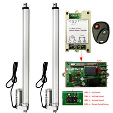 """2 Set 450mm 18"""" 12V DC Linear Actuators & Wireless Motor Controller for TV Lifts"""
