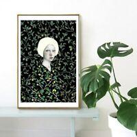 Nordic Minimalist Wall Decor Painting - White Hair Girl Canvas Print (UNFRAMED)