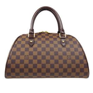 LOUIS VUITTON RIVERA MM HAND TOTE BAG CA1006 PURSE DAMIER EBENE N41434 80466