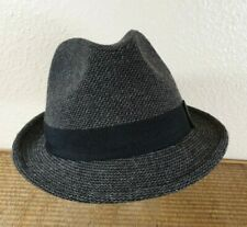 M&S Grey Tweed Style Wool Mix Trilby Hat Size L/XL 59-62cm Marks and Spencer New