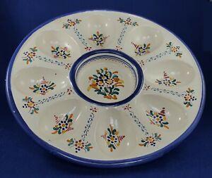Spanish Ceramic Egg Platter 23.5cm diam.