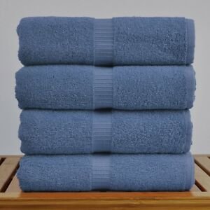4-PACK 100% BLUE TURKISH COTTON BEACH / POOL TOWELS 30x60 in. HOTEL QUALITY!