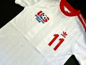 Vintage Adidas United States USMNT ERIC WYNALDA Soccer Jersey Shirt 1990's USA