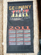 Rammstein cloth poster calendar 2011 Germany used rare