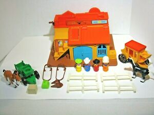 Fisher Price Vintage Little People Play Family Western Town #934 – Complete