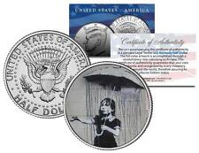 BANKSY * UMBRELLA GIRL * Colorized JFK Half Dollar Coin Street Art New Orleans