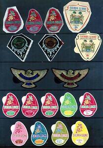 SIERRA LEONE 1965 -1969 : 18 SELF ADHESIVES RANGE SG 377 - 447a MINT Or USED