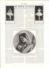 1906 Revival Ballet Miss Terry At 19 Prima Ballerina Maria Bordin Handel Festivl