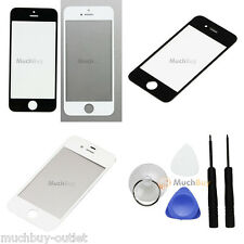 Replacement Front Screen Glass Lens Cover for iPhone 4G/4S/5G + 5 Tools NEW