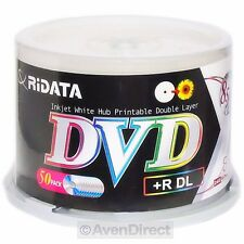 50 New Ridata 8X White Inkjet 8.5GB Double Layer DVD+R DL [FREE Priority Mail]