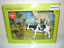 Schleich Farm World with Cow, Sheep, Donkey and Rooster New