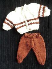 Baby clothes UNISEX premature/tiny<3-4lb/1.35-1.8k rust/cream cardigan/trousers