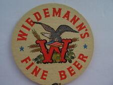 """VINTAGE """"WIEDEMANN'S FINE BEER"""" COASTER - BEAUTIFUL"""
