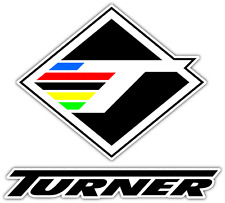 "Turner Bikes Bicycling Bicycle Car Bumper Window Sticker Decal 4""X5"""