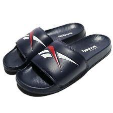 Reebok Classic Slide Navt White Big Logo Men Women Sports Sandal Slipper CN0211