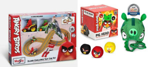 Angry Birds Cyclone Racer Remote Control Stunt Bike + Pig Head throwing game