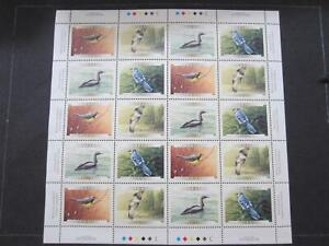 Canada sheet  of 20 mint nh, birds, 1839-42