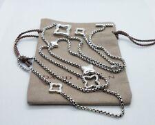 David Yurman Quatrefoil 2.7mm Chain Necklace 36 inch