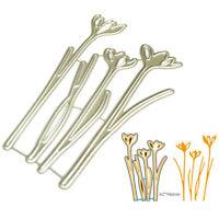 Blumen Set Metall Stanzformen Schablone für DIY Scrapbooking Papierkarten De ML
