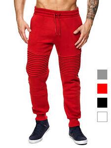 MEGASTYL Herren Jogginghosen Sweat-Pants Biker-Style Slim-Fit