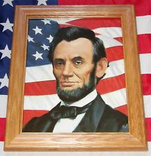 Framed Civil War Print, Mort Kunstler, Portrait of President Abraham Lincoln
