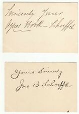 *BOOTH DYNASTY: AUSTRALIAN ACTRESS AGNES BOOTH & SECOND HUSBAND 1895 AUTOGRAPHS*