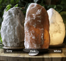 100% Natural Crystal Rock Pink Himalayan Salt Lamp With Cable & Bulb Small-Large