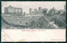 Perugia Città della Pieve Alterocca 1400 SCOLLATA ABRASA cartolina KF2806