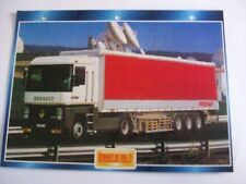 CARTE FICHE CAMION TRACTEUR CABINE AVANCEE RENAULT AE 385 TI MAGNUM LIGHT 1993