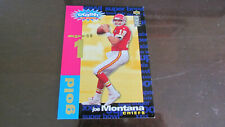 1995 Collector's Choice Football Card Joe Montana Promo Crash the Game