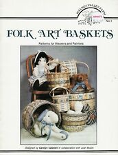 Folk Art Baskets Carolyn Calandri Basket Weaving Patterns