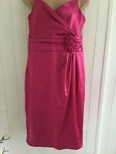 "COAST"".FUSHIA PINK COCKTAIL DRESS SIZE 16"