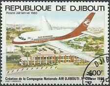 Timbre Avions Djibouti PA140 o lot 25538