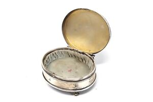 A Nice Vintage Art Deco Style Solid Silver 925 Standing Plain Trinket Box 56g