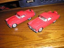 Lot of 2 Vintage 1/32 Majorette 1956 Ford Thunderbirds with Pull Back Action RED