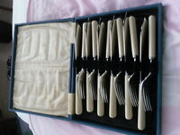 Vintage fish knife and fork set