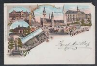 43082) Litho AK Gruß aus Chemnitz ca. 1900