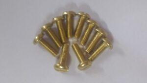 M4 x 12mm PAN HEAD, SLOTTED BRASS MACHINE SCREWS (4mm x 12mm) - Pack of 10