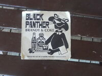 VINTAGE  BLANK PANTHER & COKE  COASTER stains